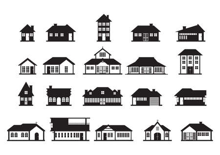 multistory: set of house icons