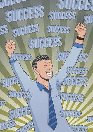 success concept: poster of success concept