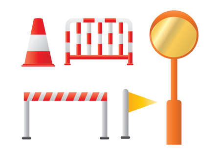 traffic barricade: set of traffic barriers