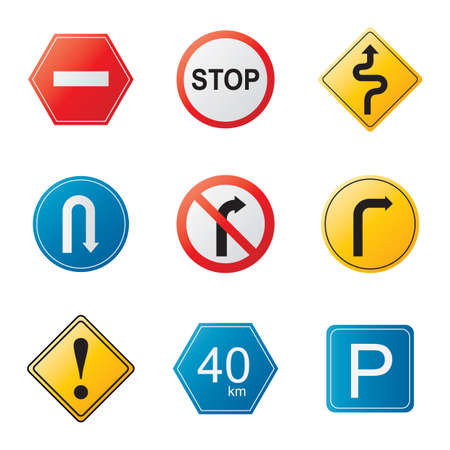 parking is prohibited: traffic signs Illustration