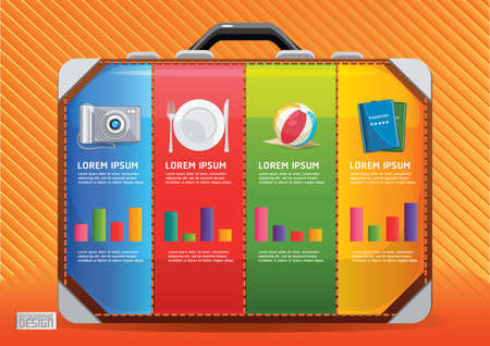 plate camera: travel infographic Illustration