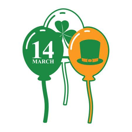 irish: balloons in irish flag color Illustration