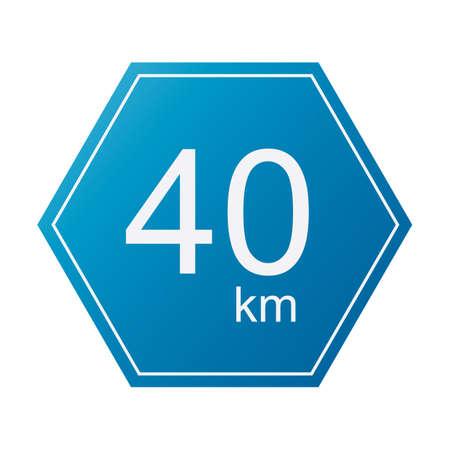 40: 40 km sign