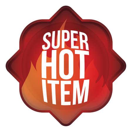 item: super hot item label Illustration