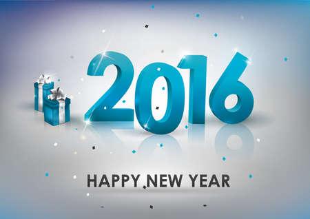 beginnings: happy new year 2016 Illustration