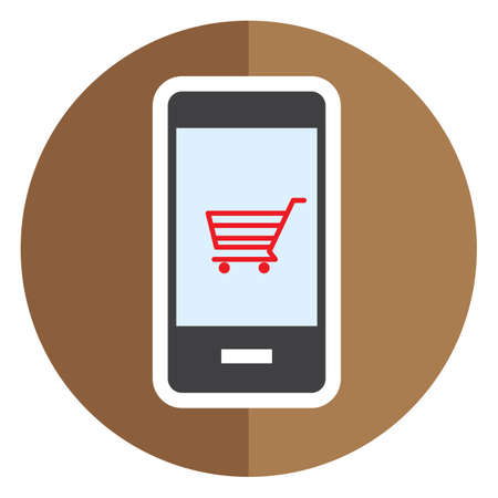 mobilephones: smartphone with shopping cart symbol