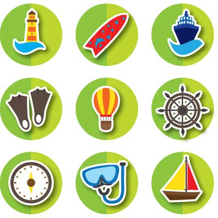 holiday icons: set of holiday icons Illustration
