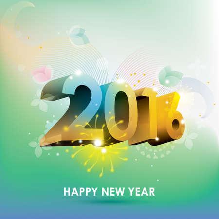 new beginnings: happy new year 2016 Illustration