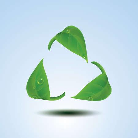 hoja de reciclaje