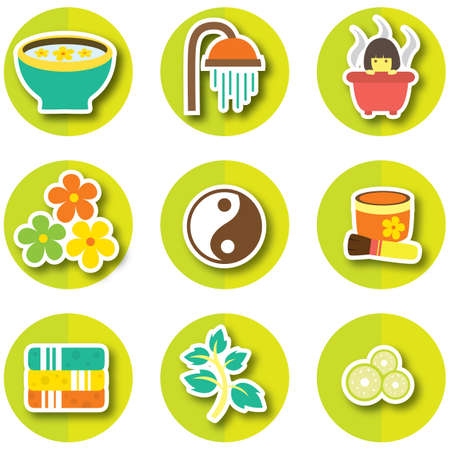 cucumber slice: set of spa icons