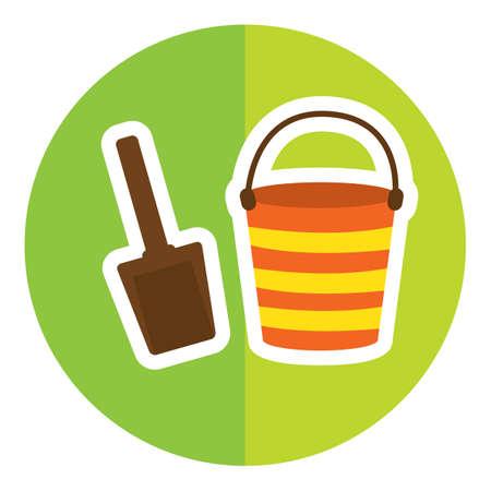 bucket and spade: spade and bucket