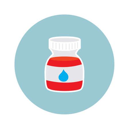 bottle of medicine: medicine bottle