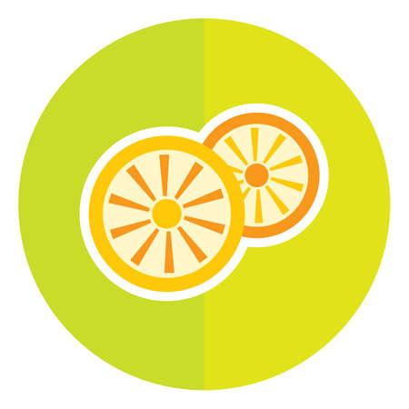 slices: orange slices Illustration