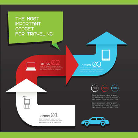 gadget: gadget for travelling infographic Illustration