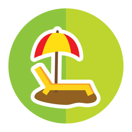 parasol: beach parasol and lounger