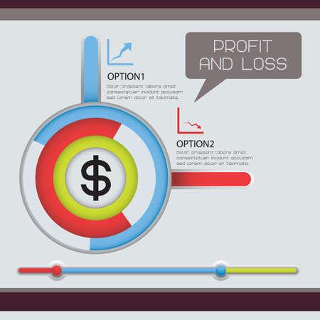perdidas y ganancias: de p�rdidas y ganancias infograf�a Vectores
