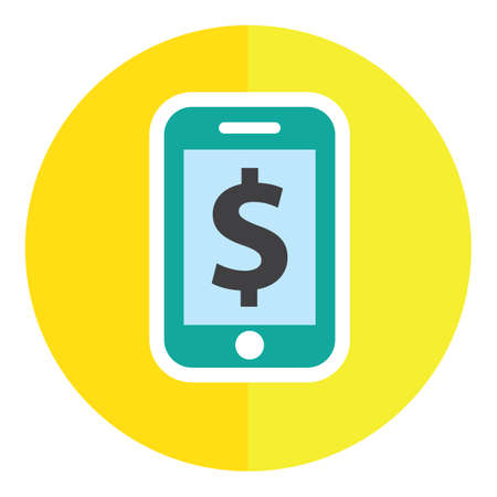 mobilephones: smartphone with dollar symbol