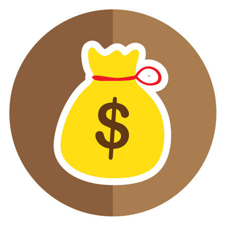 sack: money sack bag Illustration