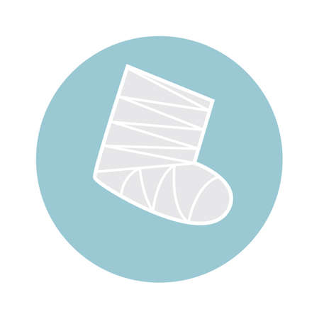 leg bandage: leg cast Illustration