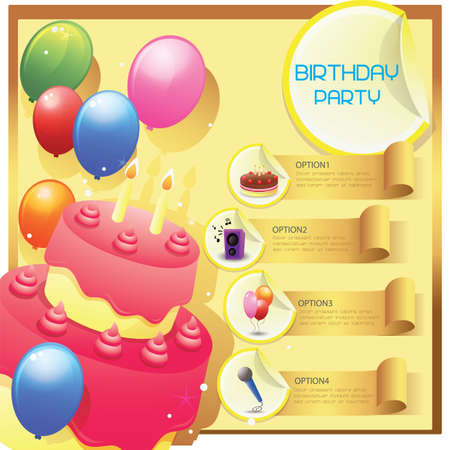 birthday party: infographic of birthday party