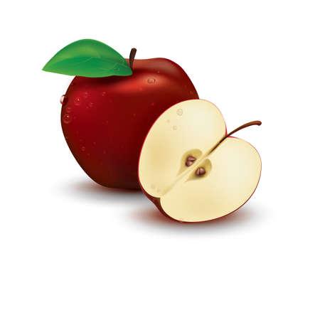 apple slice: full apple and slice