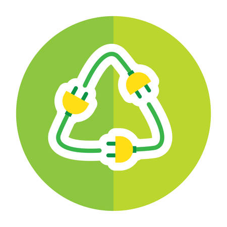 plugs: electric plugs in recycle symbol