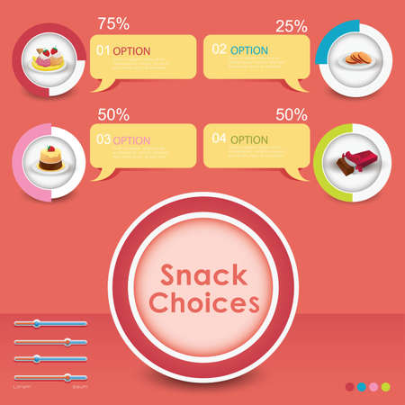 snack: infographic of snack choices