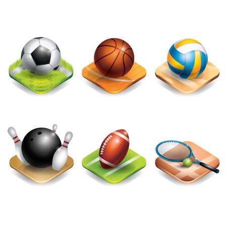 sports equipment: set of sports equipment
