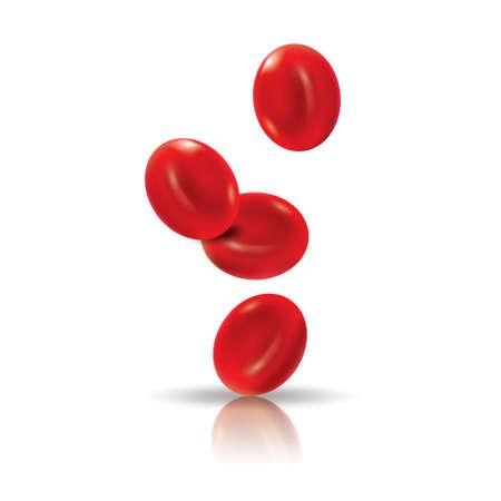 red blood cells Stock Illustratie