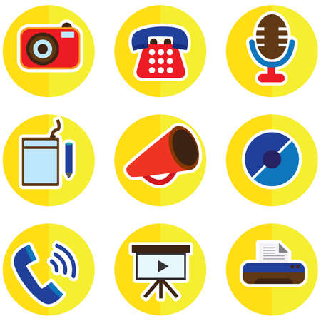 communication icons: set of communication icons