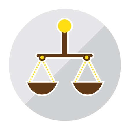scale: balance scale Illustration