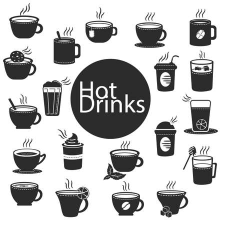 hot drinks: collection of hot drinks