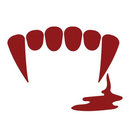 vampire teeth: vampire teeth with blood