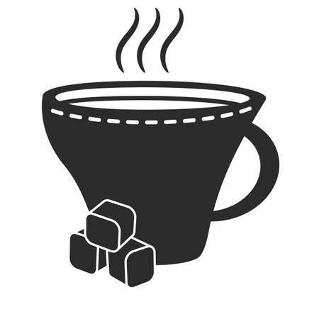 sugar cube: hot drink