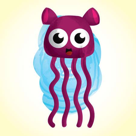 tentacle: cute monster cartoon