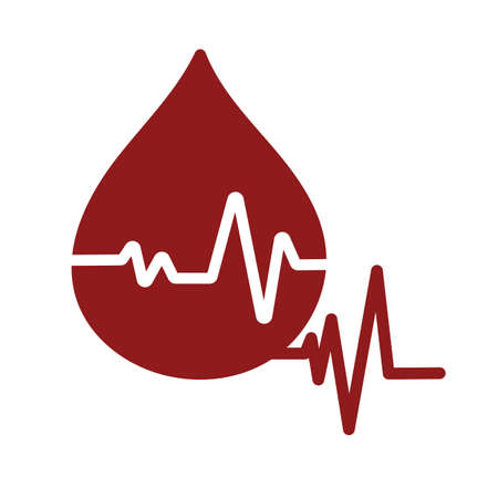 sine wave: blood drop with sine wave