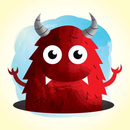 cute cartoon: cute monster cartoon