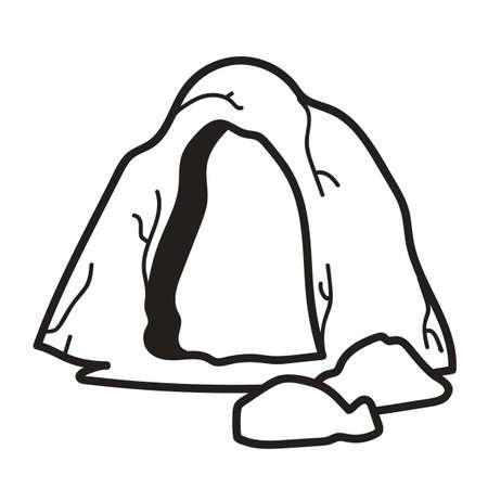 cueva  Ilustración de vector