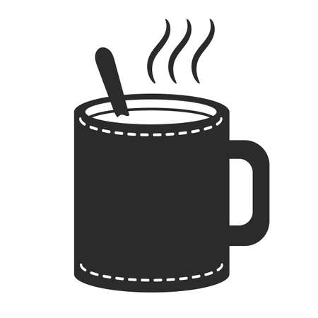 hot drink: hot drink with spoon