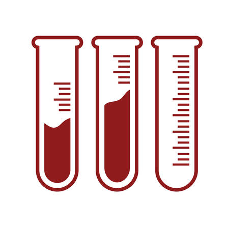 test tubes: test tubes with blood