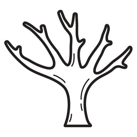 leafless: bare tree