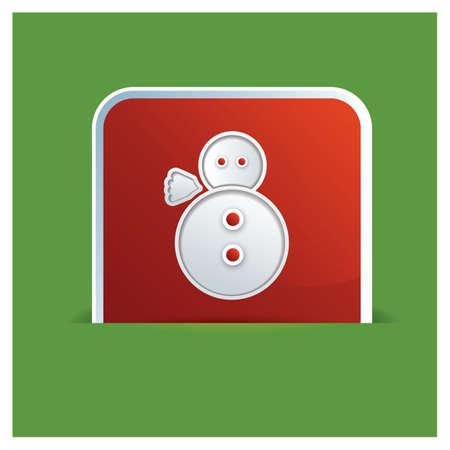 snow man: christmas snow man