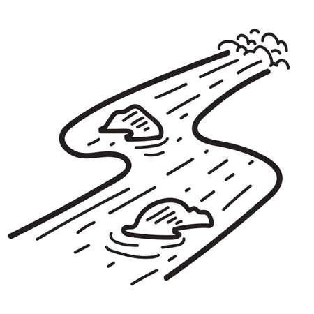 debris: debris flow Illustration