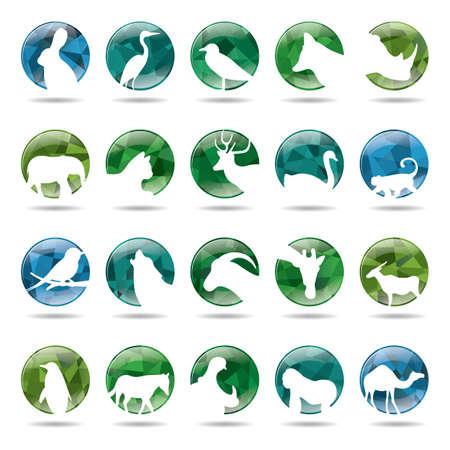 Sammlung von Tieren Symbole