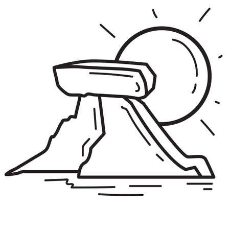 berg: sun and ice berg Illustration