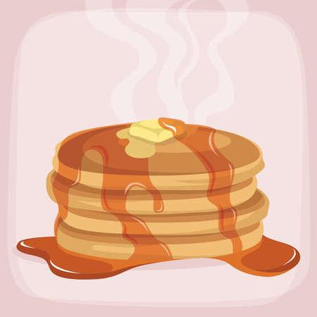 pancake: hot pancake