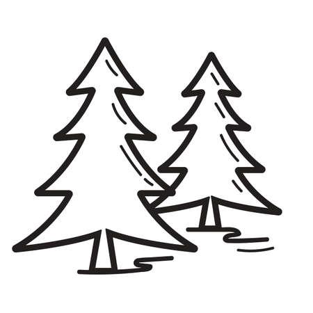 pine trees: pine trees Illustration