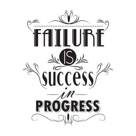 failure is success in progress poster Ilustracja