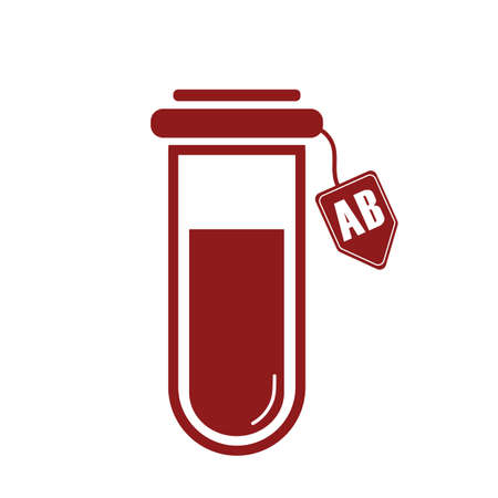testtube: test tube with ab blood group Illustration
