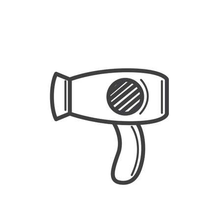 dryer: hair dryer Illustration